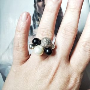 Vintage Faux Pearl Cocktail Ring